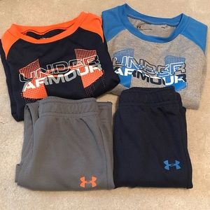 2 Toddler Boys Under Armour Sets 24M